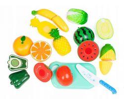 Plastová zelenina a ovocie s doskou EcoToys
