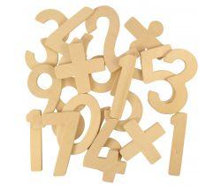 Drevené číslice sa znamienkami Bigjigs Toys