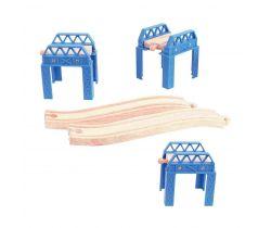 Drevené koľaje set mostnej konštrukcie Bigjigs Rail