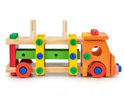 Drevené konštrukčné kocky EcoToys Van