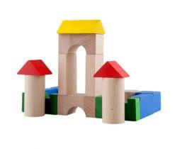 Drevené kocky 100 ks Lupo Toys Colours