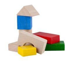Drevené kocky 30 ks Lupo Toys Colours
