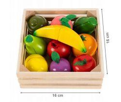 Drevené ovocie v debničke EcoToys