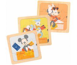 Drevené puzzle 3v1 Derrson Disney