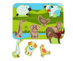 Drevené puzzle Lucy&Leo Farm Animals