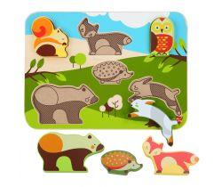 Drevené puzzle Lucy&Leo Forest Animals