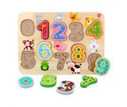 Drevené puzzle Lucy & Leo Numbers