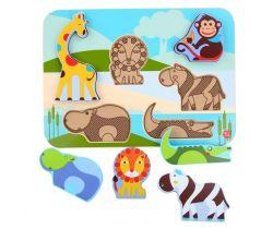 Drevené puzzle Lucy&Leo Ocean and Safari Animals