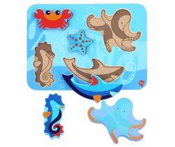 Drevené puzzle Lucy&Leo Ocean and Sea Animals