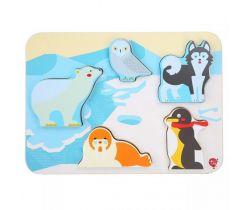 Drevené puzzle Lucy&Leo Polar Animals