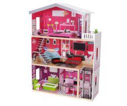 Drevený domček pre bábiky EcoToys Rezidencia Malibu