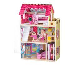 Drevený domček pre bábiky s výťahom EcoToys Raspberry