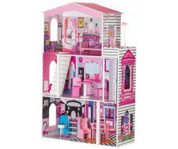 Drevený dvojposchodový domček pre bábiky s výťahom EcoToys Miami