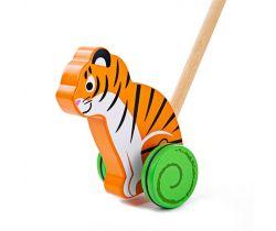 Drevený Ježdík Bigjigs Baby Tiger