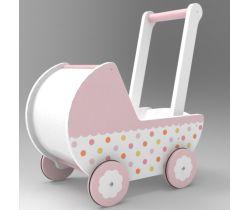 Drevený kočík pre bábiky Wooden Toys 102B