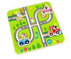 Drevený motorický labyrint Derrson Disney Mickeyho svet