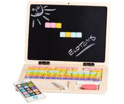 Drevený notebook s magnetickým monitorom EcoToys