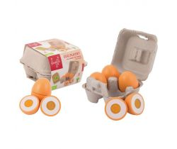 Drevený vaječný set 9ks 24m + Jouéco