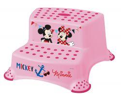 Dvojstupienok k WC/umývadlu Keeeper Mickey&Minnie