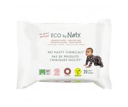 Eco vlhčené obrúsky bez vône pre citlivou pokožku 20 ks Naty Nature Babycare
