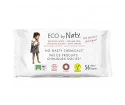 Eco vlhčené obrúsky bez vône pre citlivou pokožku 56 ks Naty Nature Babycare
