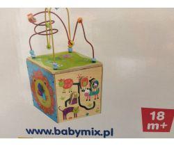 Edukačná drevená kostka BabyMix 18m+