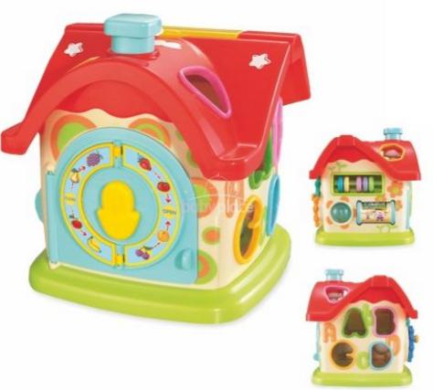Edukačná hračka BabyMix Domček s hodinami  9e3f8c128f