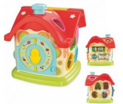 Edukačná hračka BabyMix Domček s hodinami