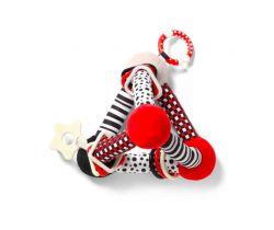 Edukačná hračka BabyOno Tiny Yoga Triangle Red