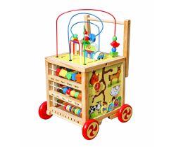 Edukačný interaktívne chodítko Wooden Toys W11