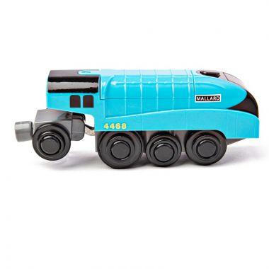 Elektrická lokomotíva Bigjigs Rail Mallard Modrá