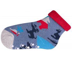 Froté ponožky s protišmykovou úpravou Yo Animals