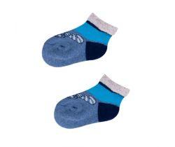 Froté ponožky s protišmykovou úpravou Yo Blue Fly