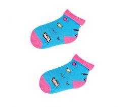 Froté ponožky s protišmykovou úpravou Yo Blue Heart/Star