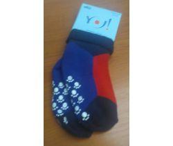 Froté ponožky s protišmykovou úpravou Yo Blue/Red