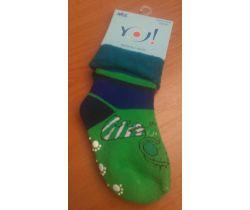 Froté ponožky s protišmykovou úpravou Yo Green Fly