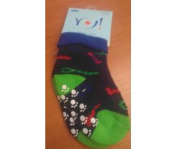 Froté ponožky s protišmykovou úpravou Yo Green Robot