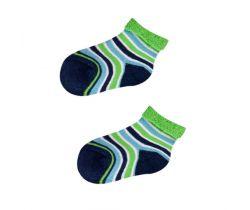 Froté ponožky s protišmykovou úpravou Yo Green Stripes