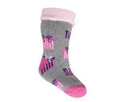 Froté ponožky s protišmykovou úpravou Yo Grey Gift