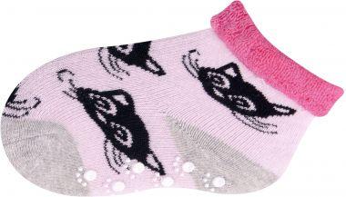 Froté ponožky s protišmykovou úpravou Yo Pink Cat