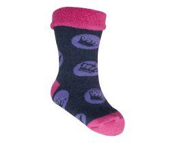Froté ponožky s protišmykovou úpravou Yo Pink Crown