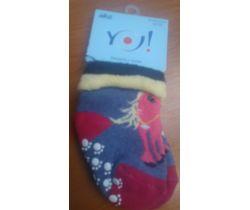 Froté ponožky s protišmykovou úpravou Yo Pink Unicorn