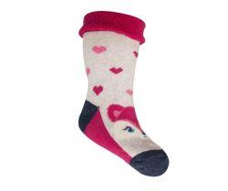 Froté ponožky s protišmykovou úpravou Yo Red Fox