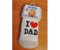 Froté ponožky veľkosť 0 Pinokio Deluxe I Love Dad