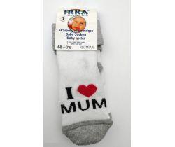 Froté ponožky veľkosť 1 Pinokio Deluxee I Love Mum