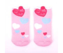 Froté ponožky YO s 3D prvkom Hearts