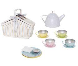 Čajový set v košíku pastelový Jabadabado