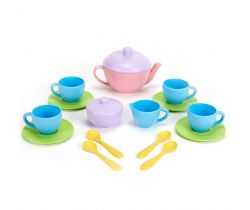 Čajový set Green Toys Pink 17 Ks