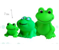 Gumová žabí rodinka 3 ks Hencztoys