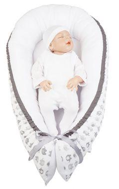 Hniezdo pre bábätko LittleUp Baby Elephant Grey